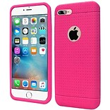 Insten Rugged Soft Rubber Cover Case For Apple iPhone 7 Plus, Hot Pink