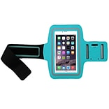 Insten Blue Adjustable Armband Sportband Key Holder Pouch for iPhone 6s 6 Plus SE Samsung Galaxy Not