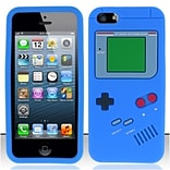Insten Blue Gameboy Silicone Soft Skin Case Cover For Apple iPhone SE 5