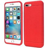 Insten Rugged Silicone Rubber Case For Apple iPhone 7/ 8, Red