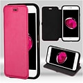 Insten Flip Leather Fabric Cover Case w/stand For Apple iPhone 7 Plus/ 8 Plus, Hot Pink