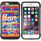 Insten Cityscape Series Black TPU + PC Hybrid Protective Case The Surfer Girls For Apple iPhone 6 /