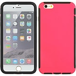 Insten Full Protection Trim TPU Rubber Skin Gel Case For Apple iPhone 6s Plus / 6 Plus - Hot Pink/Bl