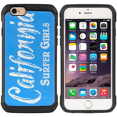 Insten Cityscape Series Black TPU + PC Hybrid Protective Case Cali Surfer Girls For Apple iPhone 6 / 6s