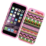 Insten Eggplant tribal Hard Hybrid Dual Layer Case For Apple iPhone 6/6s - Colorful