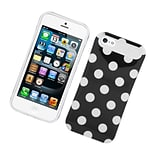 Insten Two-Tone/NightGlow Polka Dots Jelly Hybrid Hard Silicone Case Cover For Apple iPhone 5 / 5S -