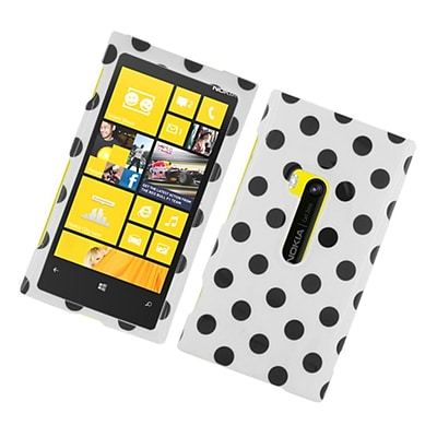 Insten Polka Dots Hard Plastic Case For Nokia Lumia 920 - White/Black