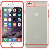 Insten Fusion Candy Glamon Transparent Skin Rubber Gel Case For Apple iPhone 6s Plus / 6 Plus - Red