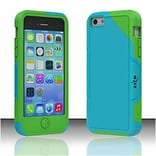 Insten Premium Seek Hard Hybrid Rubber Coated Cover Case For Apple iPhone 5C - Turquoise