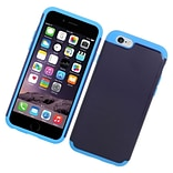Insten Hard Hybrid Rubberized Silicone Case For Apple iPhone 6/6s - Blue