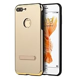 Insten Skyfall Aluminum Hybrid PC/TPU Case with Magnetic Kickstand For Apple iPhone 7 Plus - Gold/Bl