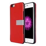 Insten Hard Dual Layer TPU Case w/stand/card slot For Apple iPhone 6 / 6s - Red/Black