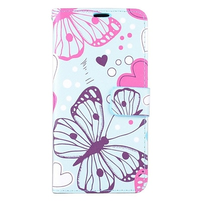 Insten Butterfly Leather Wallet Case with card slot For Samsung Galaxy S6 Edge Plus - Colorful