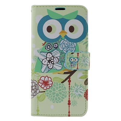 Insten Owl Leather Wallet Case with Card slot & Photo Display For Samsung Galaxy S6 Edge Plus - Colorful