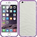 Insten Hard TPU Cover Case For Apple iPhone 6 / 6s - White/Purple