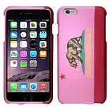 Insten California Flag Hard Rubber Coated Cover Case For Apple iPhone 6 Plus 5.5 - Pink