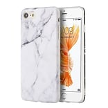 iPhone 7/ 8 Case, by Insten TPU Marble Stone Pattern Texture Visual IMD Shell Rubber Case For Apple