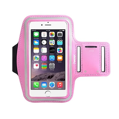 Insten Running Jogging Workout Gym Armband Sportband Pouch Holder Case (5.67 x 3.14) for iPhone 7 Universal - Pink