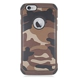 Insten Camouflage Hard Hybrid Dual Layer Case For Apple iPhone 6/6s - Brown/Black