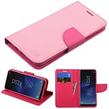 Insten Liner MyJacket Leather Wallet Credit Card Stand Flip Case Cover For Samsung Galaxy S8 - Pink/