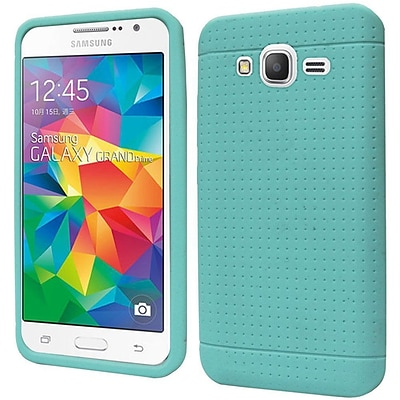 Insten Rugged Soft Rubber Cover Case For Samsung Galaxy Grand Prime - Teal