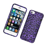 Insten Leopard Hard Cover Case For Apple iPhone 5S 5 - Purple