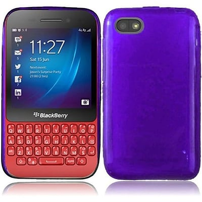 For BlackBerry Q5 Frosted TPU Cover - Purple