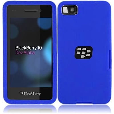Insten Silicone Skin Case Cover For BlackBerry Z10 (Blue)