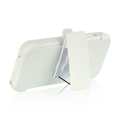 Insten Hybrid Hard Dual Layer Case Cover with Holster Clip For Apple iPhone 5C - White