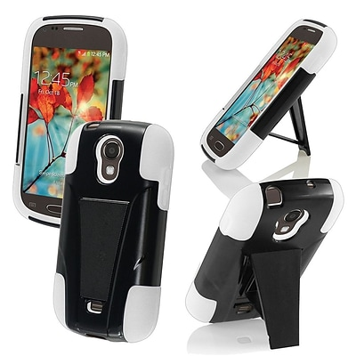 For Samsung Galaxy Light T399 T-Stand Cover - Black+White