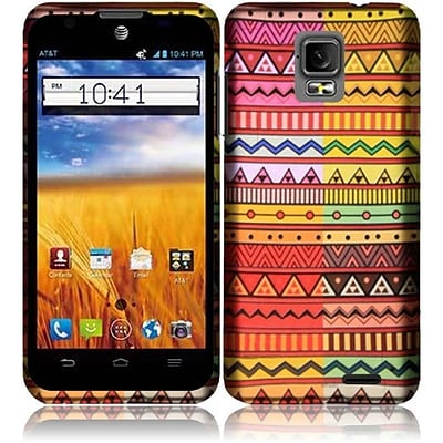 Insten Geometric Aztec Limited Quantity Rubberized Design Case Cover For ZTE Z998 Mustang