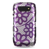 Insten Hard Rubber Coated Case For BlackBerry Torch 9850/9860 - Purple/White