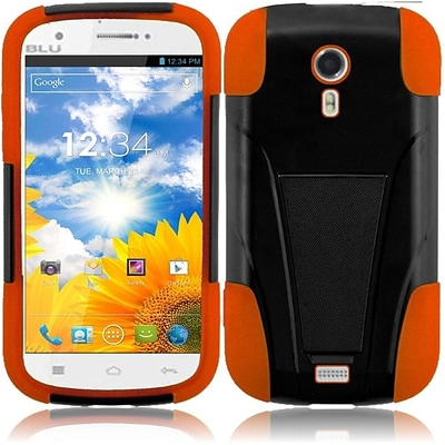 Insten Black+Orange Hybrid Hard Shockproof Armor Protector Cover T-Stand Premium Case for BLU Studio 5.0 D530