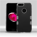 Insten Hard TPU Cover Case For Apple iPhone 7 Plus - Black/Gray