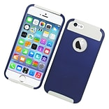 Insten Hard Hybrid Rubberized Silicone Case For Apple iPhone 6 / 6s - Blue/White