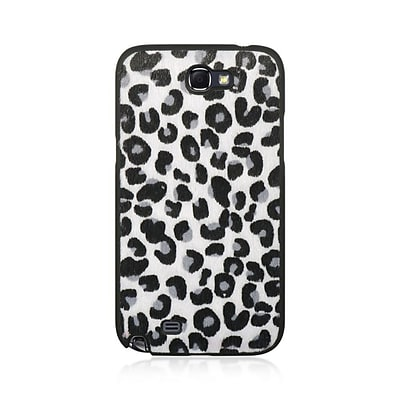 Insten Hard Crystal Rubber Skin Back Protective Shell Cover Case For Samsung Galaxy Note II - Black/White