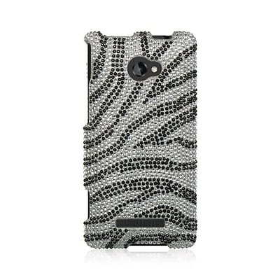 Insten Hard Diamante Cover Case For HTC Windows Phone 8X - Silver/Black