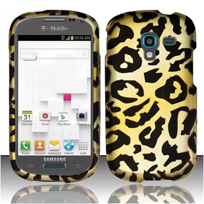 Insten Cheetah Hard Rubber Cover Case For Samsung Galaxy Exhibit - Yellow