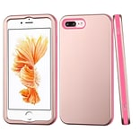 Insten VERGE Hybrid Hard PC/Silicone Dual Layer Shockproof Case For Apple iPhone 7 Plus - Rose Gold/