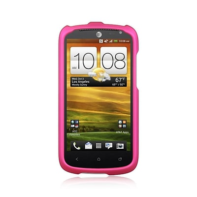 Insten Hard Rubber Cover Case For HTC One VX - Hot Pink
