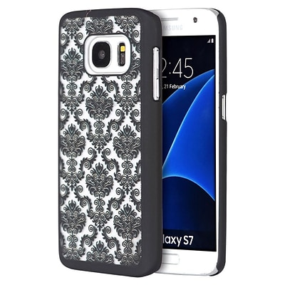 Insten Lace Hard Rubberized Cover Case For Samsung Galaxy S7 - Black