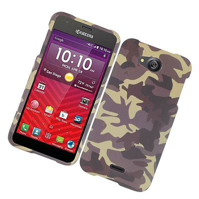 Insten Camouflage Hard Case Cover For Kyocera Hydro Wave - Brown