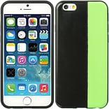 Insten Leather Fabric Case for Apple iPhone 6 / 6s - Black/Green
