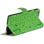 Insten Cartoon Flip Leather Fabric Cover Case w/stand for Apple iPhone 6 / 6s - Green