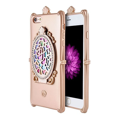 Insten Hard TPU Case w/Diamond/Mirror For Apple iPhone 6 / 6s - Rose Gold