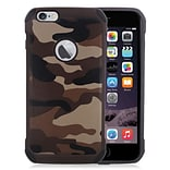 Insten Camouflage Hard Hybrid Silicone Case For Apple iPhone 6s Plus / 6 Plus - Brown