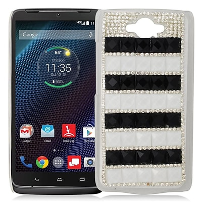Insten Checker Hard Bling Case For Motorola Droid Turbo - Silver/Black
