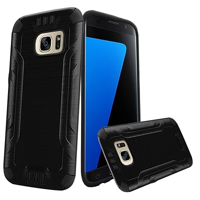 Insten Hard Dual Layer TPU Case For Samsung Galaxy S7 - Black