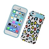 Insten Two-Tone/NightGlow Leopard Jelly Hybrid Hard Silicone Case Cover For Apple iPhone 5C - Colorf