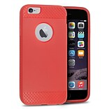 Insten Rubber Gel Skin Cover Case For Apple iPhone 6 / 6s - Red